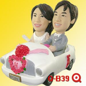 Q-C39-禮車新郎新娘公仔